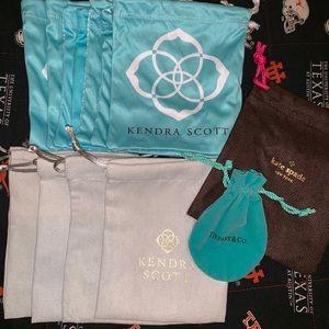 13 Kendra Scott, Kate Spade, Tiffany jewelry bags